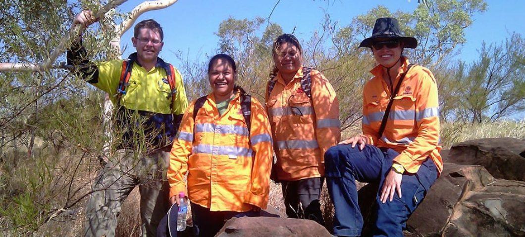Survey team in northwest Qld