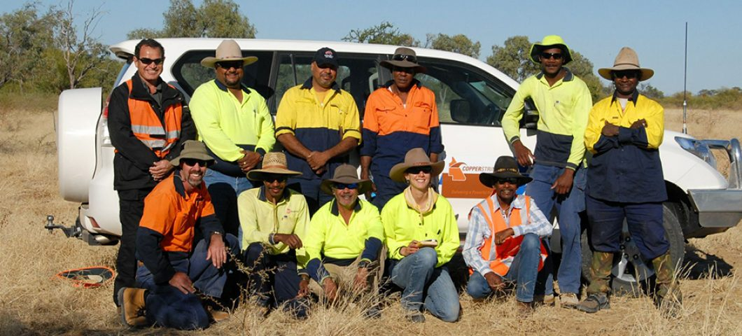 The Wanamara survey team out at Richmond