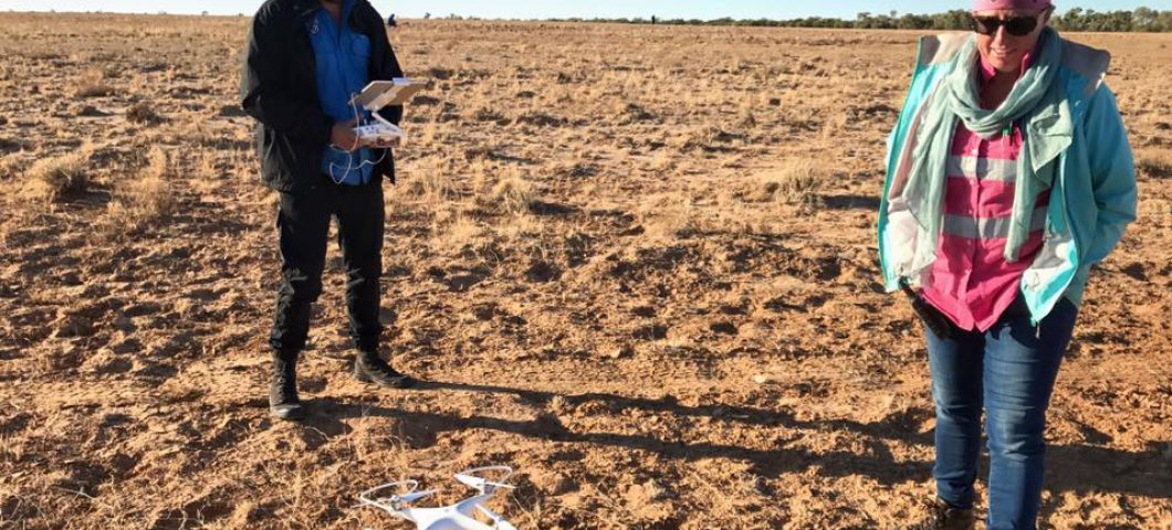 Andrew Schaefer and drone, western Qld