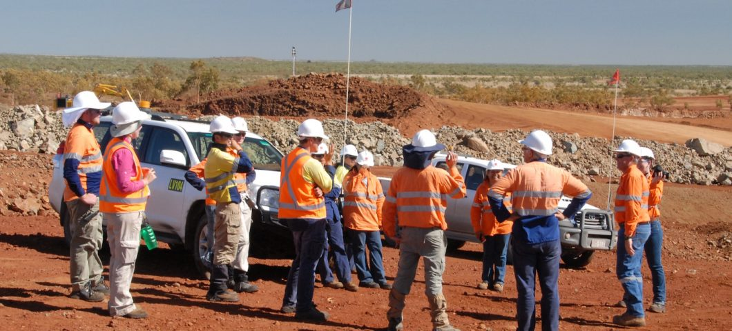 Mine survey with Mitakoodi representatives