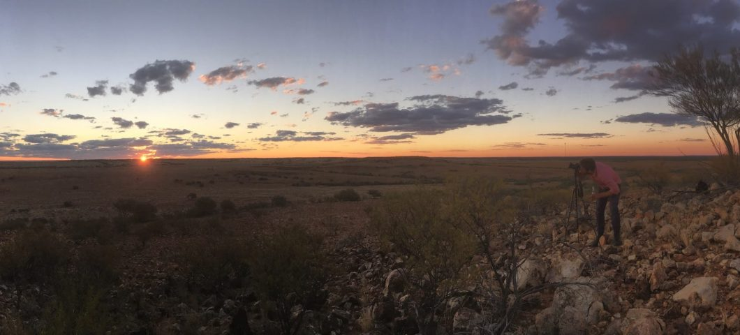 Sunset on Marion Downs Station, south of Boulia, western Queensland