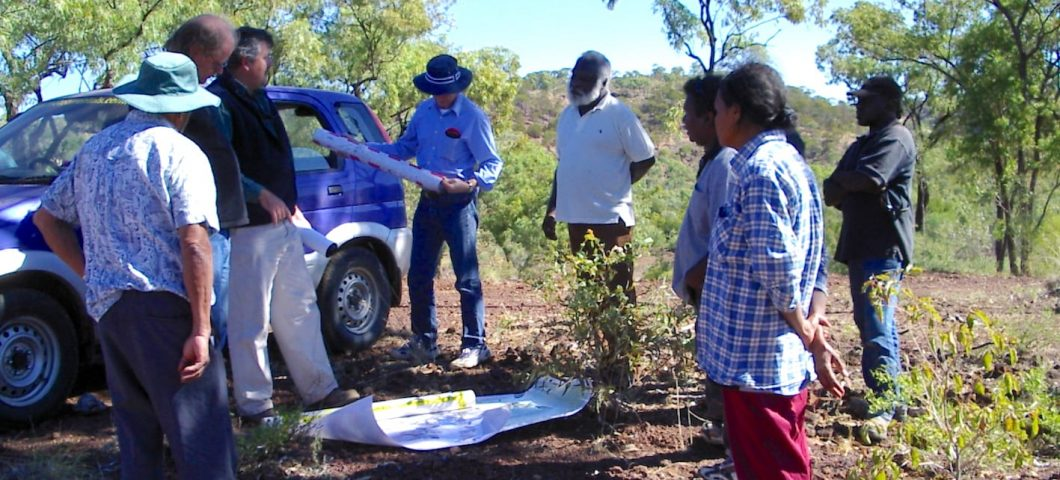 Consultation with Wanamara traditional owners